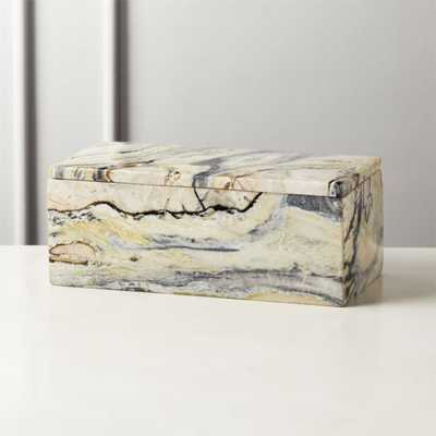 Aspect Grey Marble Box - CB2