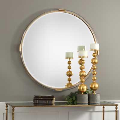 Mackai Round Gold Mirror - Hudsonhill Foundry