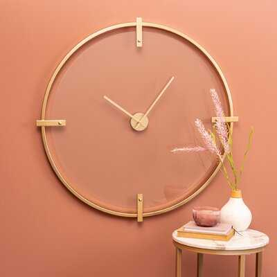 "Oversized Hendricks 31"" Wall Clock - Wayfair"