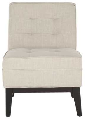 Angel Tufted Armless Club Chair - Off White - Arlo Home - Arlo Home