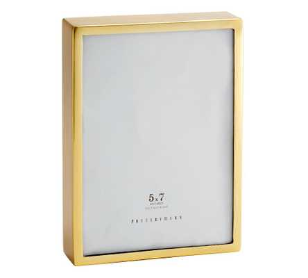"Hagen Picture Frame, Brass, 5"" x 7"" - Pottery Barn"