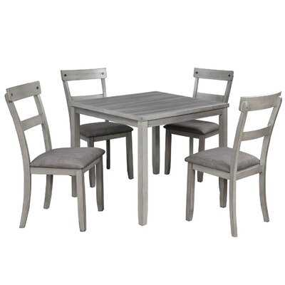 Arradene 5 - Piece Counter Height Dining Set - Wayfair