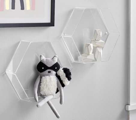 Acrylic Hexagon Wall Shelf - Pottery Barn Kids