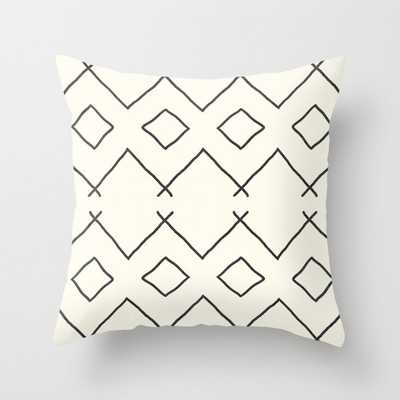 "Bath In Cream Couch Throw Pillow by Becky Bailey - Cover (18"" x 18"") with pillow insert -Outdoor Pillow - Society6"