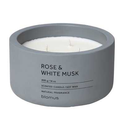 Rose and White Musk Scented Jar Candle - AllModern