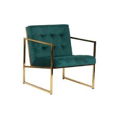 "Radia 26"" W Tufted Velvet Armchair - Wayfair"