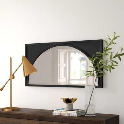 Aura Modern Wood Wall Panel Arch Beveled Accent Mirror - Wayfair