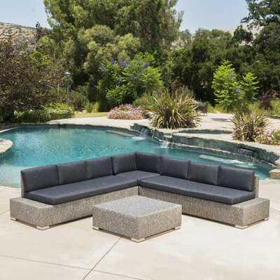 Furst 4 Piece Sectional Set with Cushions - Wayfair