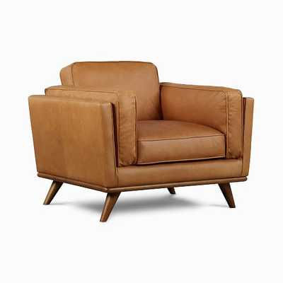 Zander Chair Tan Charme Leather Almond - West Elm
