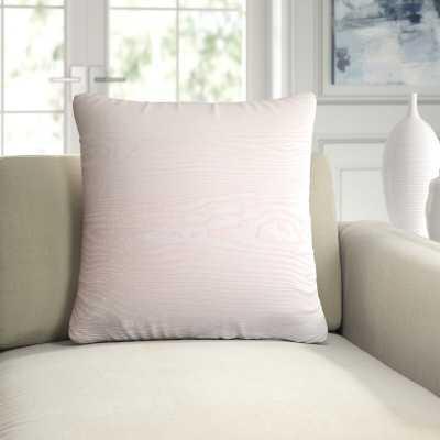 Woodgrain Velvet Throw Pillow Color: Blush, Size: 22'' x 22'' - Perigold