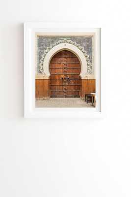 "Fes Number 30 by TRVLR Designs - Framed Wall Art Basic White 30"" x 30"" - Wander Print Co."
