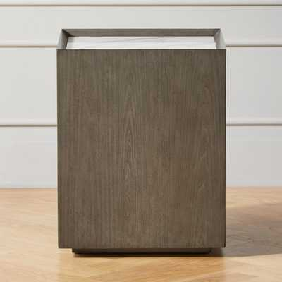 Hideaway Side Table with Storage - CB2