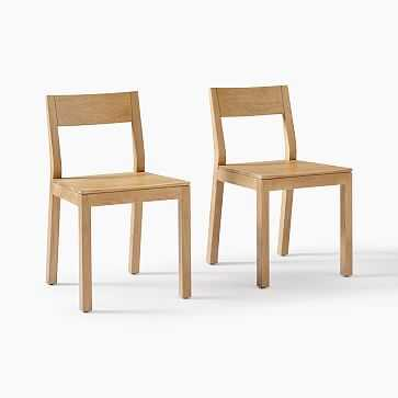 Tahoe Dining Chair, Natural Oak, Set of 2 - West Elm