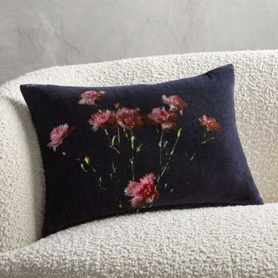 """18""""x12"""" Lavigne Floral Pillow with Down-Alternative Insert - CB2"""