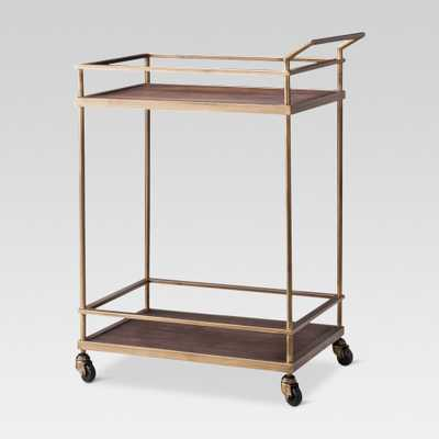 Wood & Brass Finish Bar Cart - Threshold , Gold - Target