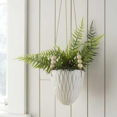 Ashok Round Ceramic Hanging Planter - Birch Lane