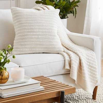 Soft Corded Pillow + Throw Set - Natural Canvas - West Elm