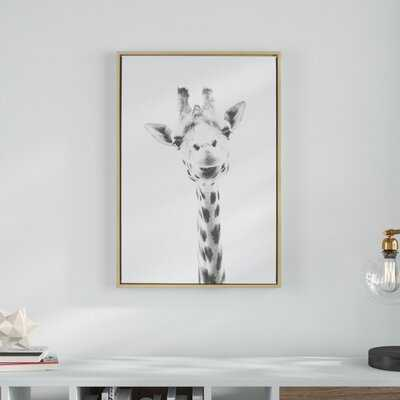 Sylvie Graywash Giraffe'by Simon Te Tai - Photograph Print on Canvas - Wayfair