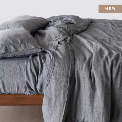Stonewashed Linen Duvet Cover - Indigo Chambray - King By The Citizenry - The Citizenry