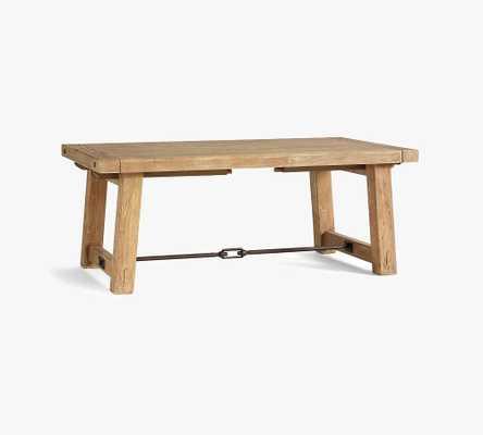 "Benchwright Extending Dining Table, Smoked Nutmeg/Bronze, 74"" - 104"" - Pottery Barn"