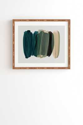"Minimalism 81 by Iris Lehnhardt - Framed Wall Art Bamboo 19"" x 22.4"" - Wander Print Co."