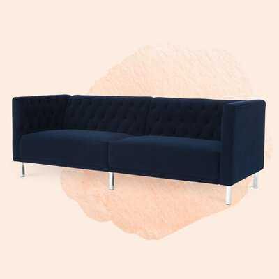 Velvet Chesterfield 80.5'' Rolled Arm Sofa - Wayfair