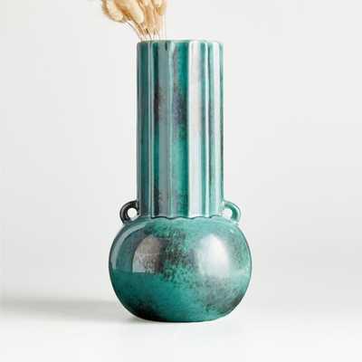 Odille Jade Ceramic Vase - Crate and Barrel
