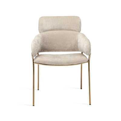 Interlude Marino Armchair Fabric: Beige Latte - Perigold