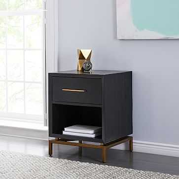 Alexa Nightstand, Black, Set of 2 - West Elm