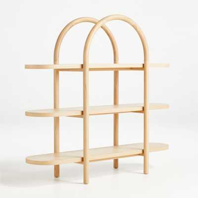 Dolly Natural Wide Bookcase - Crate and Barrel