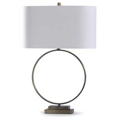 StyleCraft 32 in. Antique Brass Table Lamp - Home Depot