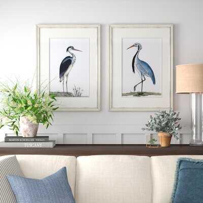 'Shore Birds' 2 Piece Picture Frame Print Set - Birch Lane