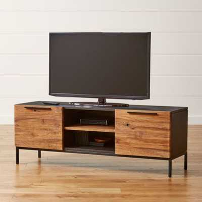 "Rigby Natural 55"" Small Media Console with Base - Crate and Barrel"