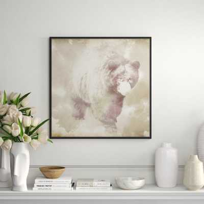 """JBass Grand Gallery Collection 'Bear' Framed Graphic Art Print on Canvas Size: 31.75"""" H x 31.75"""" W x 1.5"""" D - Perigold"""