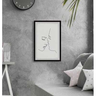 'Just a Kiss' - Picture Frame Painting Print on Paper - AllModern