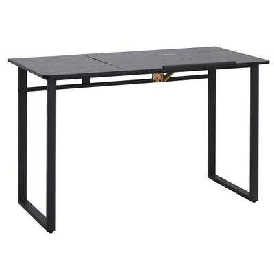 Computer Desk Writing Table With Small Angle Adjustable Tabletop For Drawing Home Office Workstation, Black Wood Grain - Wayfair
