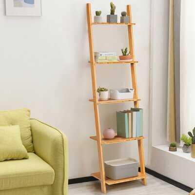 "Bertila 65"" H x 17"" W Solid Wood Ladder Bookcase - Wayfair"