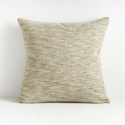 "Ria Neutral Pillow 20"" - Crate and Barrel"