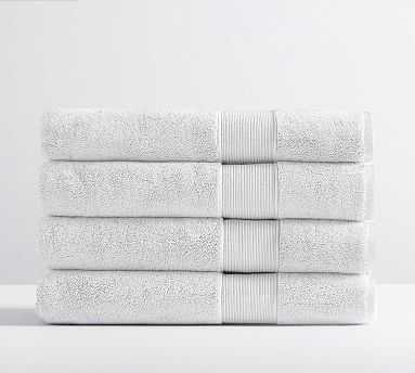 PB Classic Organic Bath Towels, Set of 4, White - Pottery Barn