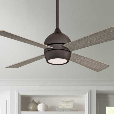 "44"" Fanimation Kwad Matte Greige LED Ceiling Fan - Style # 83T55 - Lamps Plus"