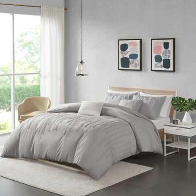 Makenna Full/Queen 5pc Cotton Comforter Set Gray - Target
