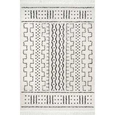 nuLOOM Sophie Modern Moroccan Shag Off-White 8 ft. Square Rug, Off White - Home Depot