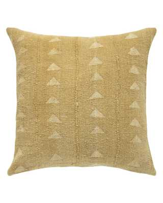 traingle mud cloth pillow in mustard MADE TO ORDER - PillowPia