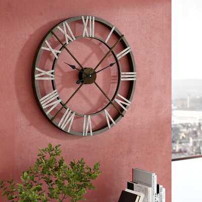 "William Street Oversized 27"" Wall Clock - Wayfair"