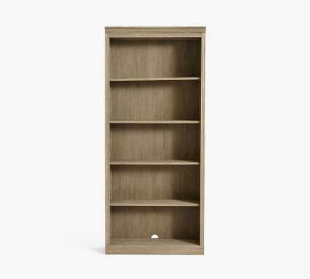 "Livingston 35"" x 80"" Bookcase, Gray Wash - Pottery Barn"