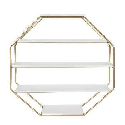 Kennesaw 5 Piece Hexagon Solid Wood Floating Shelf - AllModern