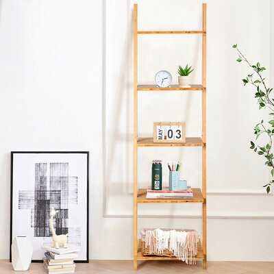 Mullaney 65'' H x 17'' W Solid Wood Ladder Bookcase - Wayfair