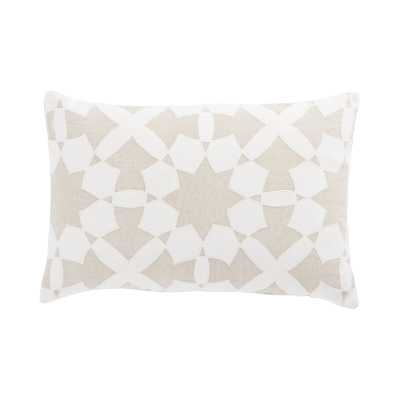 Cosmic By Nikki Chu Living Casino Geometric Linen Lumbar Pillow Color: Beige/Ivory, Fill: Polyester / Polyfill - Perigold