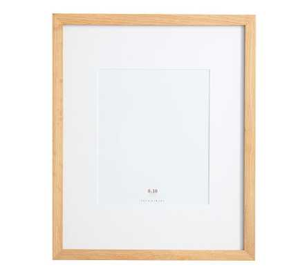 Wood Gallery Single Opening Frame - 8x10 (14x17 Without Mat) - Natural - Pottery Barn