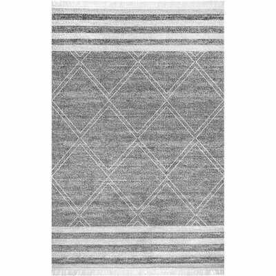Aherin Geometric Gray Indoor / Outdoor Area Rug - Wayfair